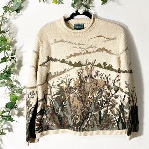 Lauren Ralph Lauren Deer Nature Knit Sweater